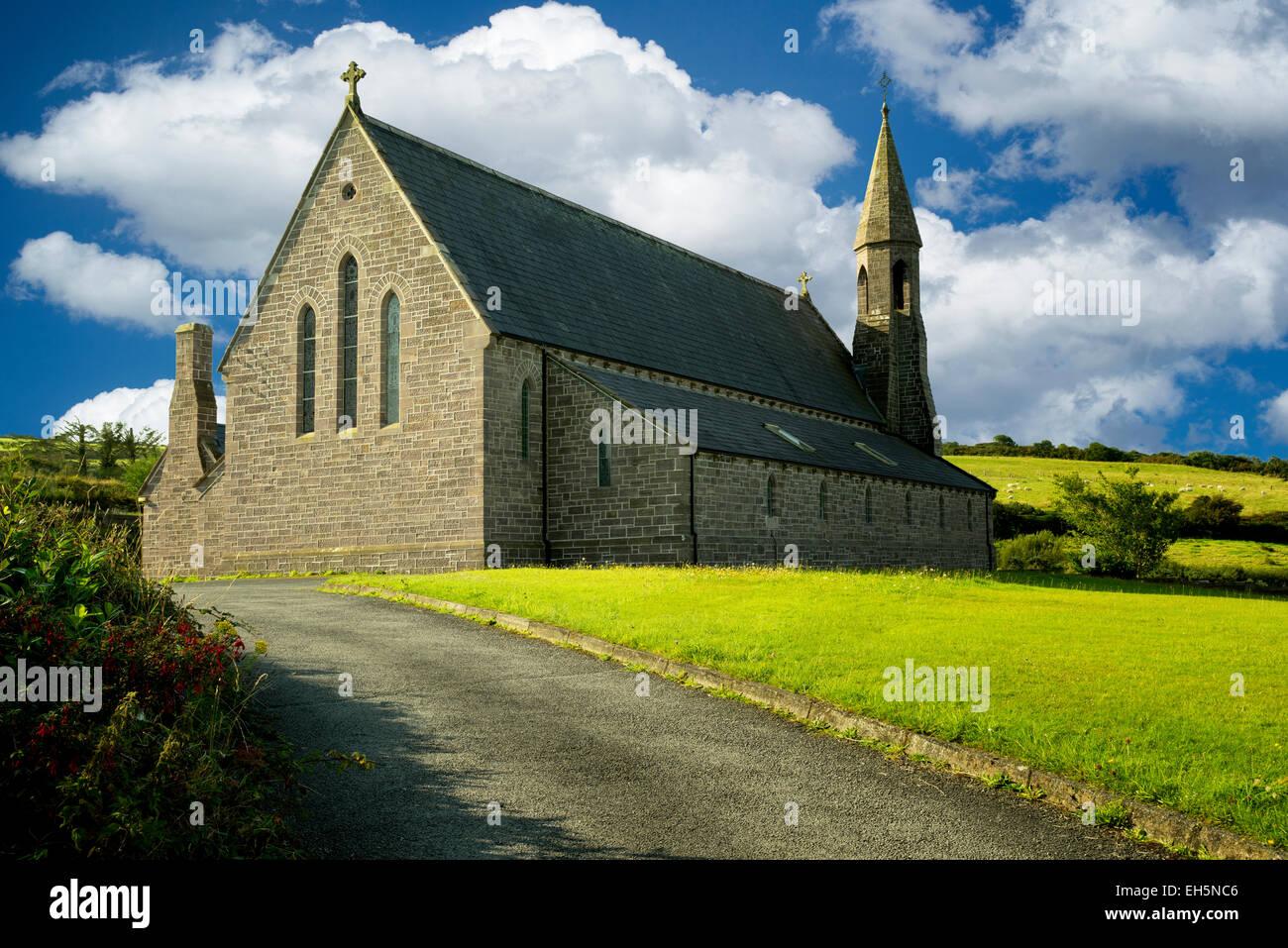Kirche von Johannes dem Täufer. Katholische Kirche in Dingle, Irland Stockbild
