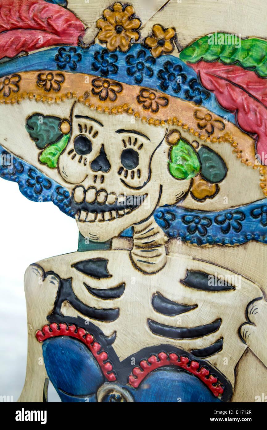 Dia de Los Muertos Day von Skelett, San Antonio, Texas USA Stockbild