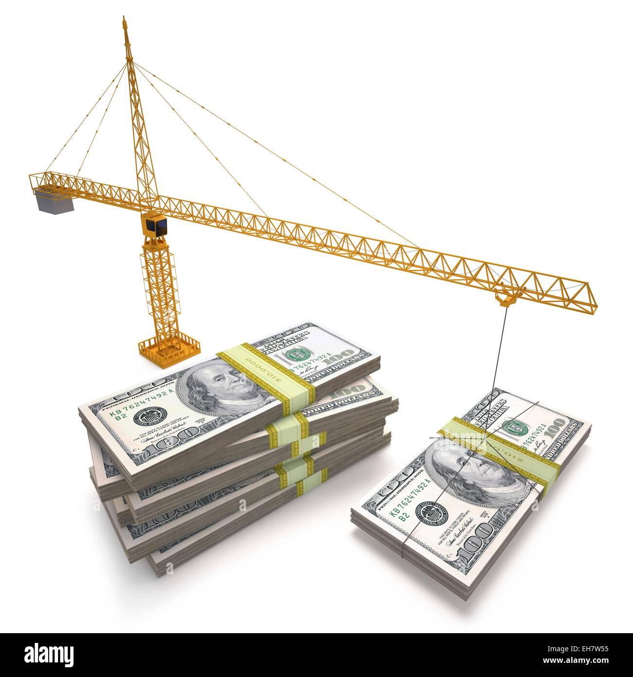 Finanzielles Wachstum, Abbildung Stockbild
