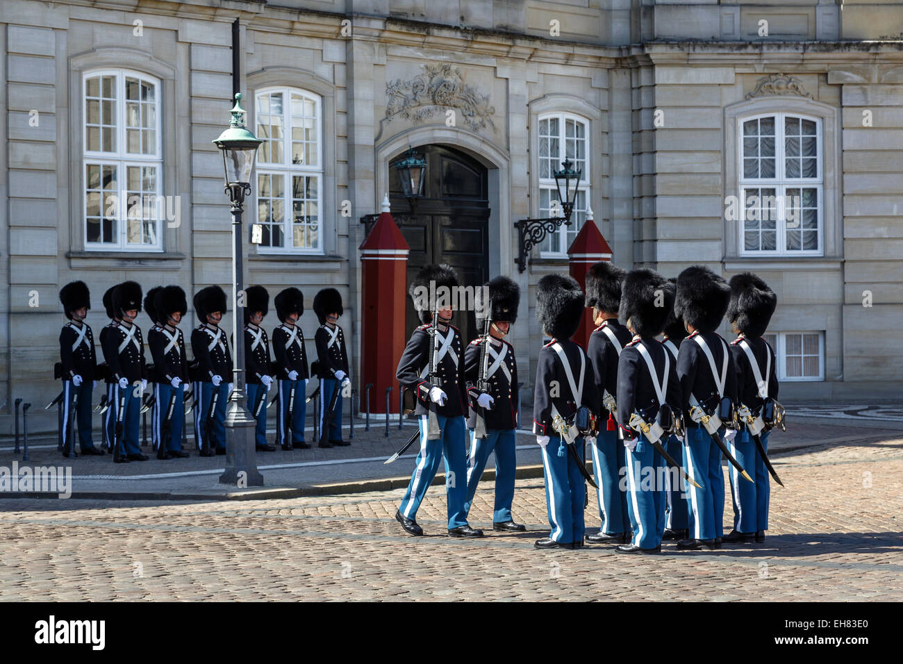 Wachen, Kopenhagen, Dänemark, Skandinavien, Europa Stockbild