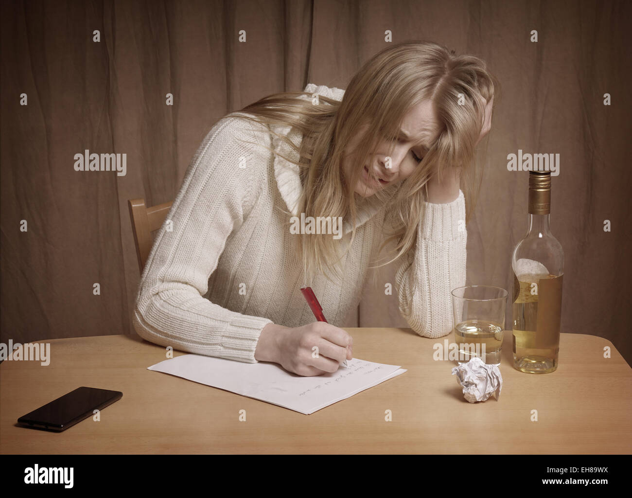 Liebeskummer Hat Frau Stockfoto Bild 79474022 Alamy