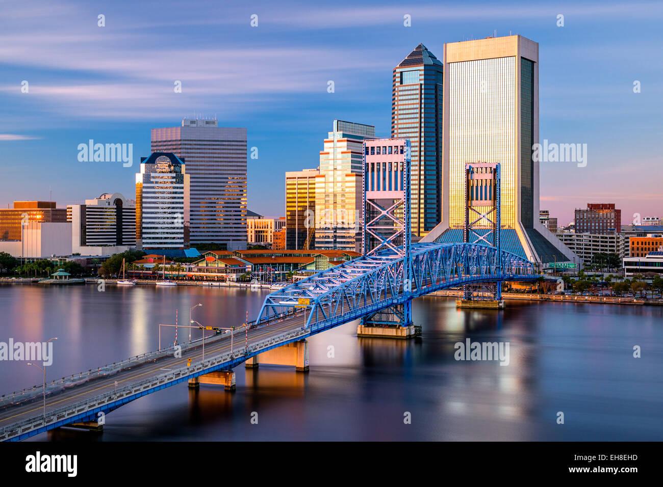 Die Innenstadt von Skyline von Jacksonville, Florida, USA. Stockbild