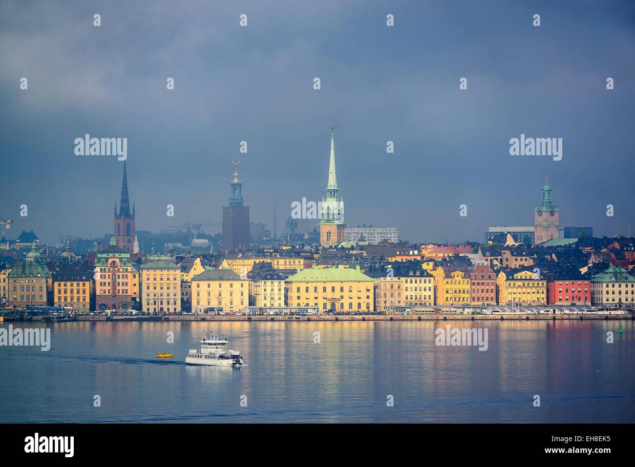 Skyline von Stockholm, Schweden. Stockbild