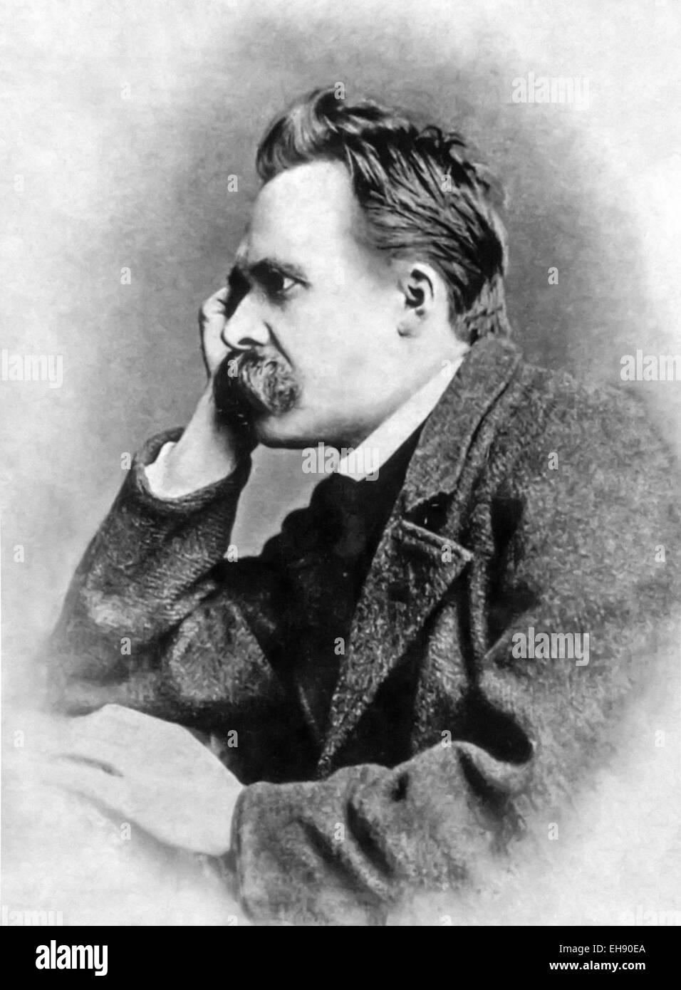 Friedrich Wilhelm Nietzsche (1844-1900), deutscher Philosoph, Dichter und Schriftsteller. Siehe Beschreibung für Stockfoto