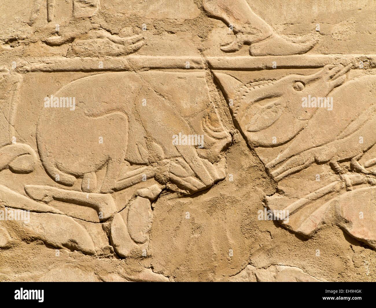 Wiederaufbau der Arkaden Tempel von Thutmosis IV im Freilichtmuseum in Karnak Luxor Ägypten Stockbild