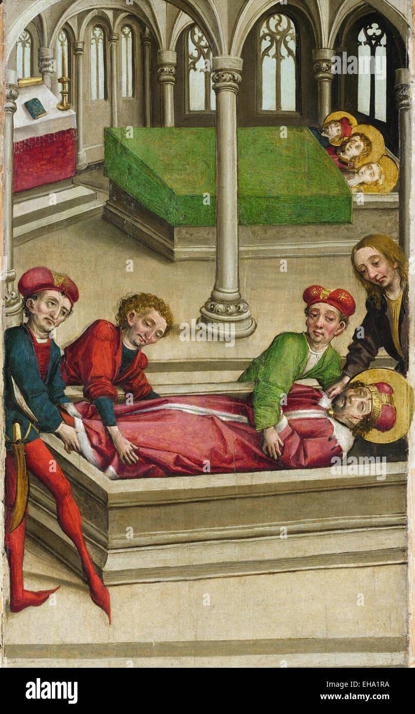 Meister der Eggenburg die Beerdigung des Heiligen Wenzel Stockbild