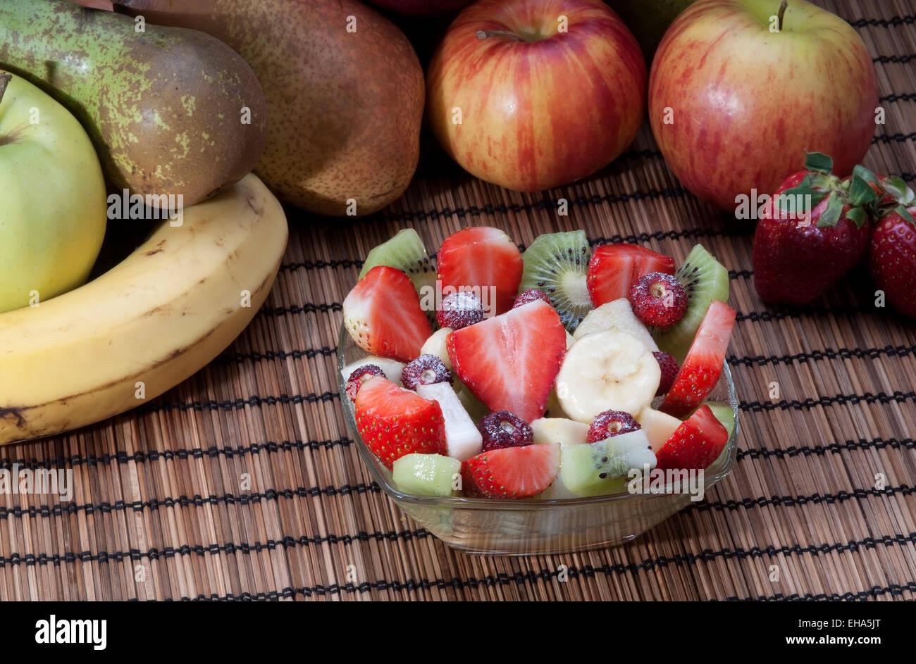 Diat Gesund Obstsalat Im Glas Schussel Gesundes Fruhstuck Gewicht