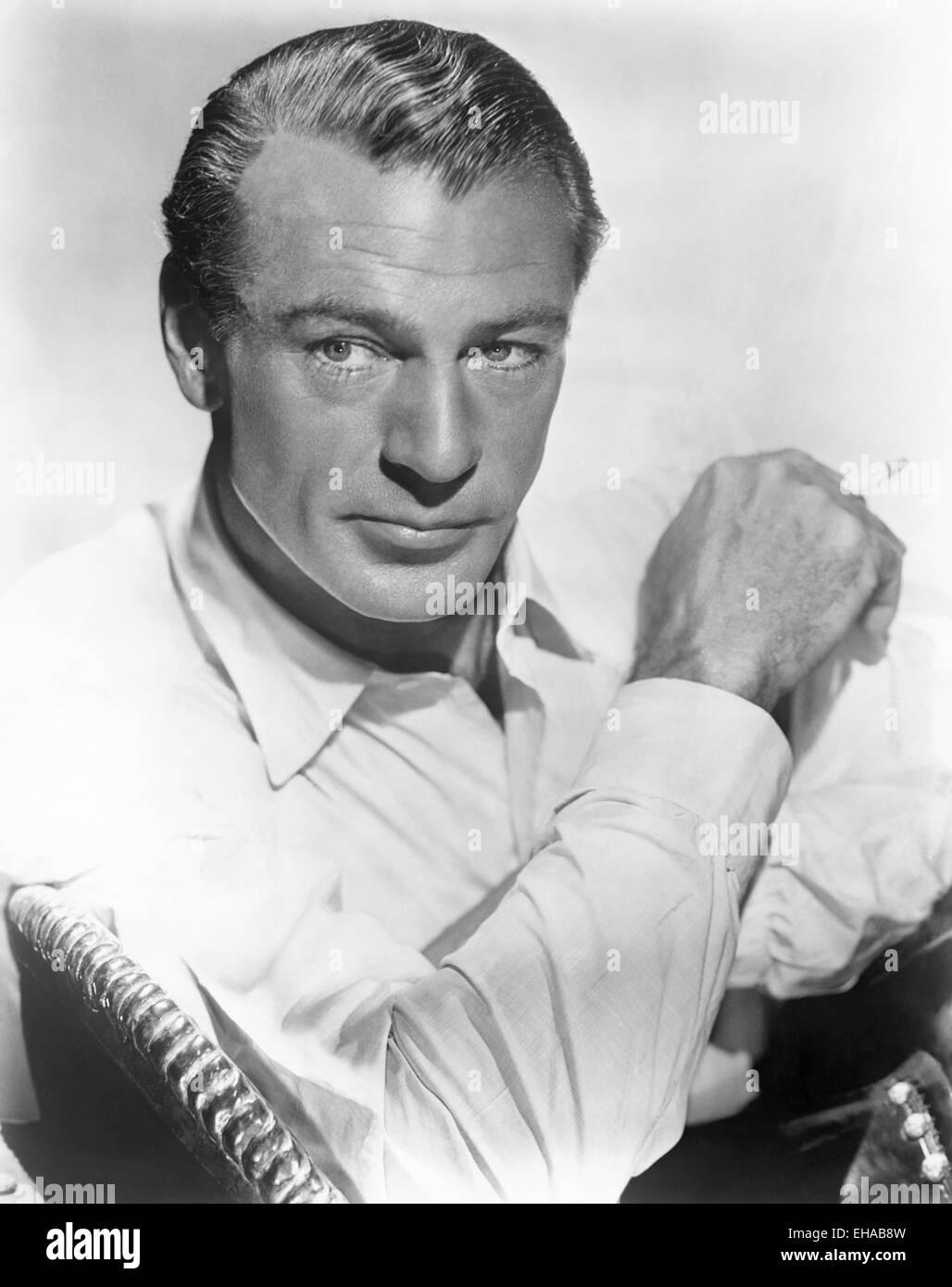 Gary Cooper, Portrait, ca. 1941 Stockbild
