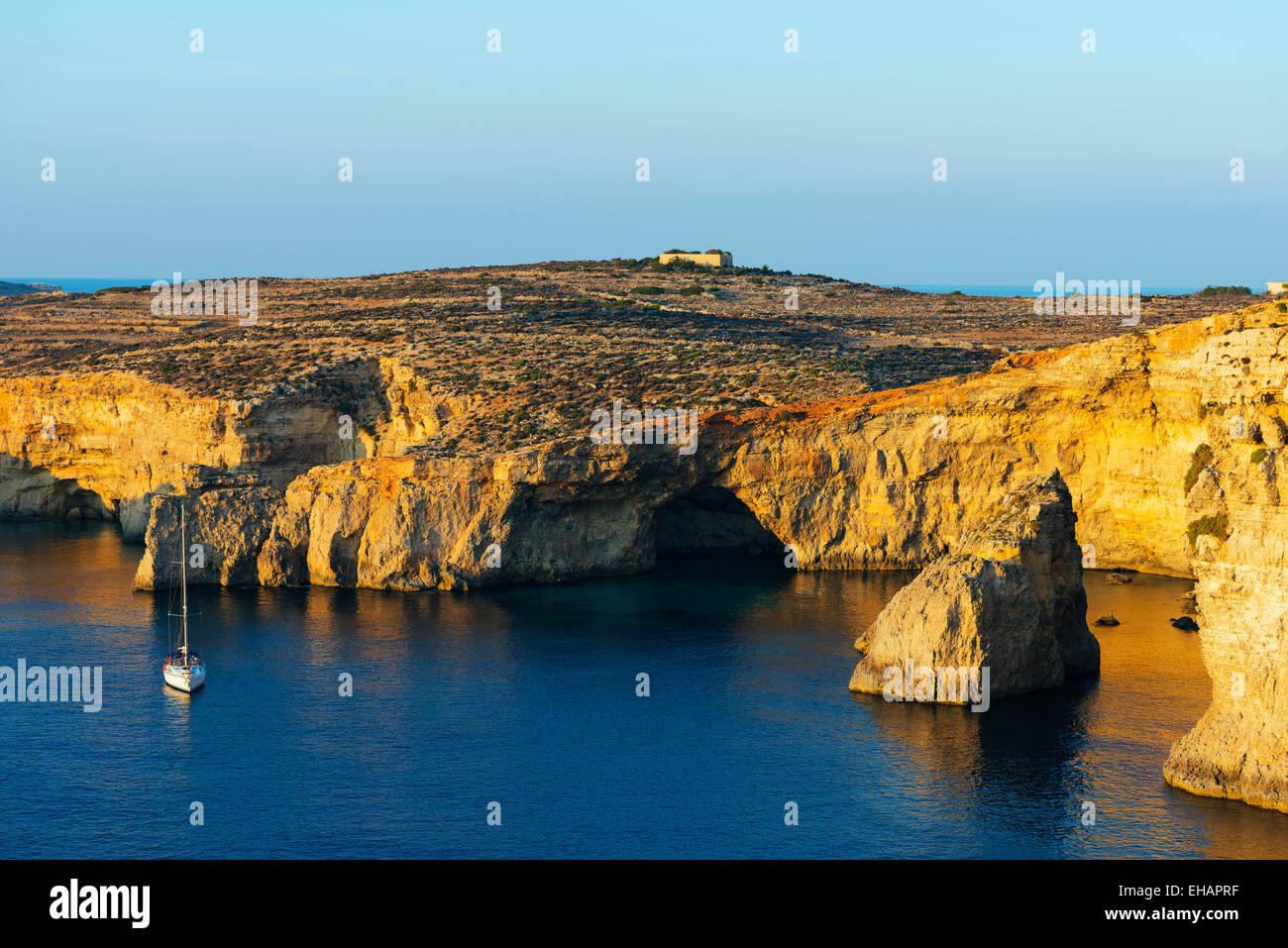 Mittelmeer Europa, Malta, Insel Comino, Stockbild
