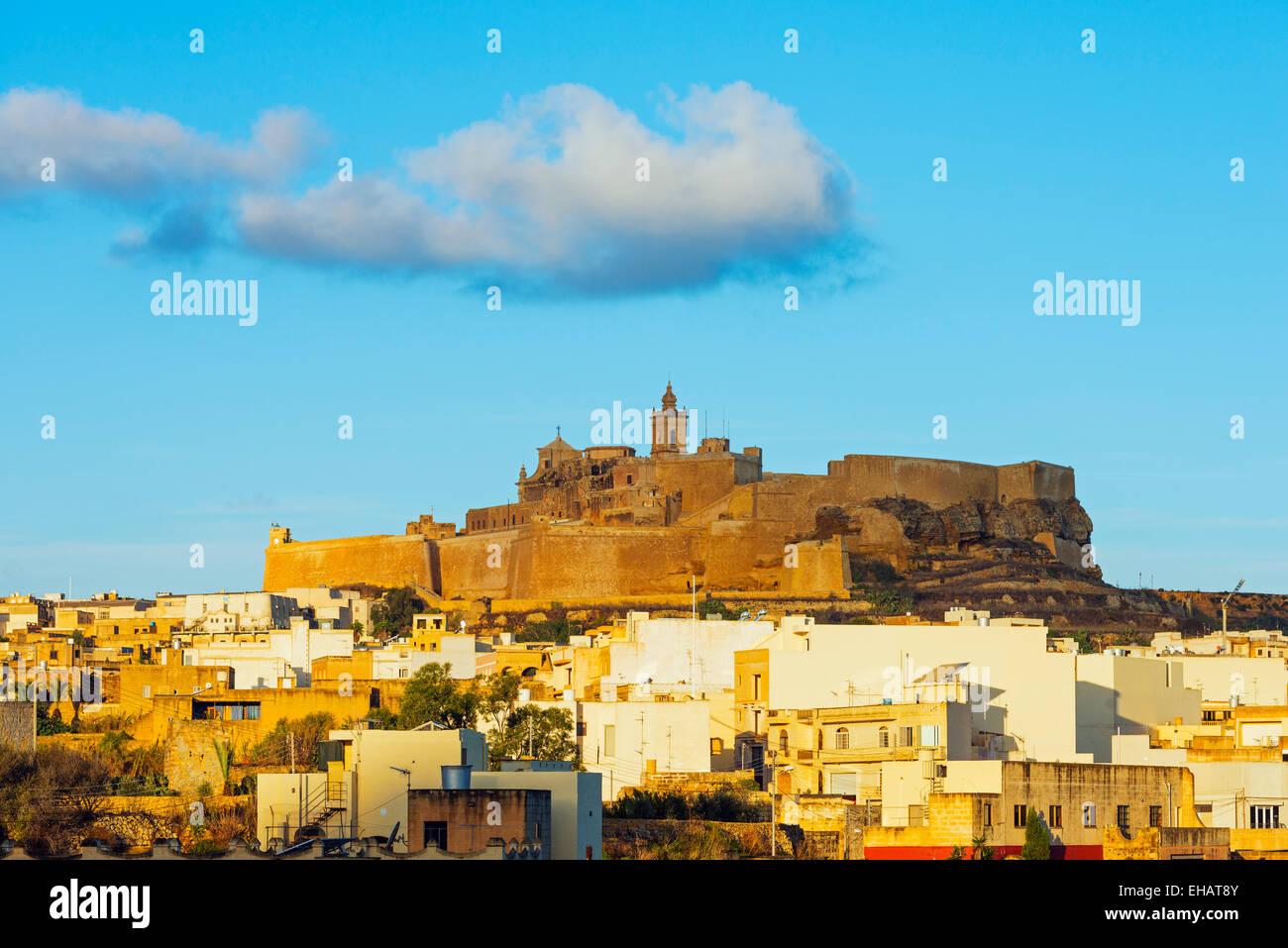 Mittelmeer Europa, Malta, Insel Gozo, Victoria (Rabat), Il-Kastell Zitadelle Stockbild