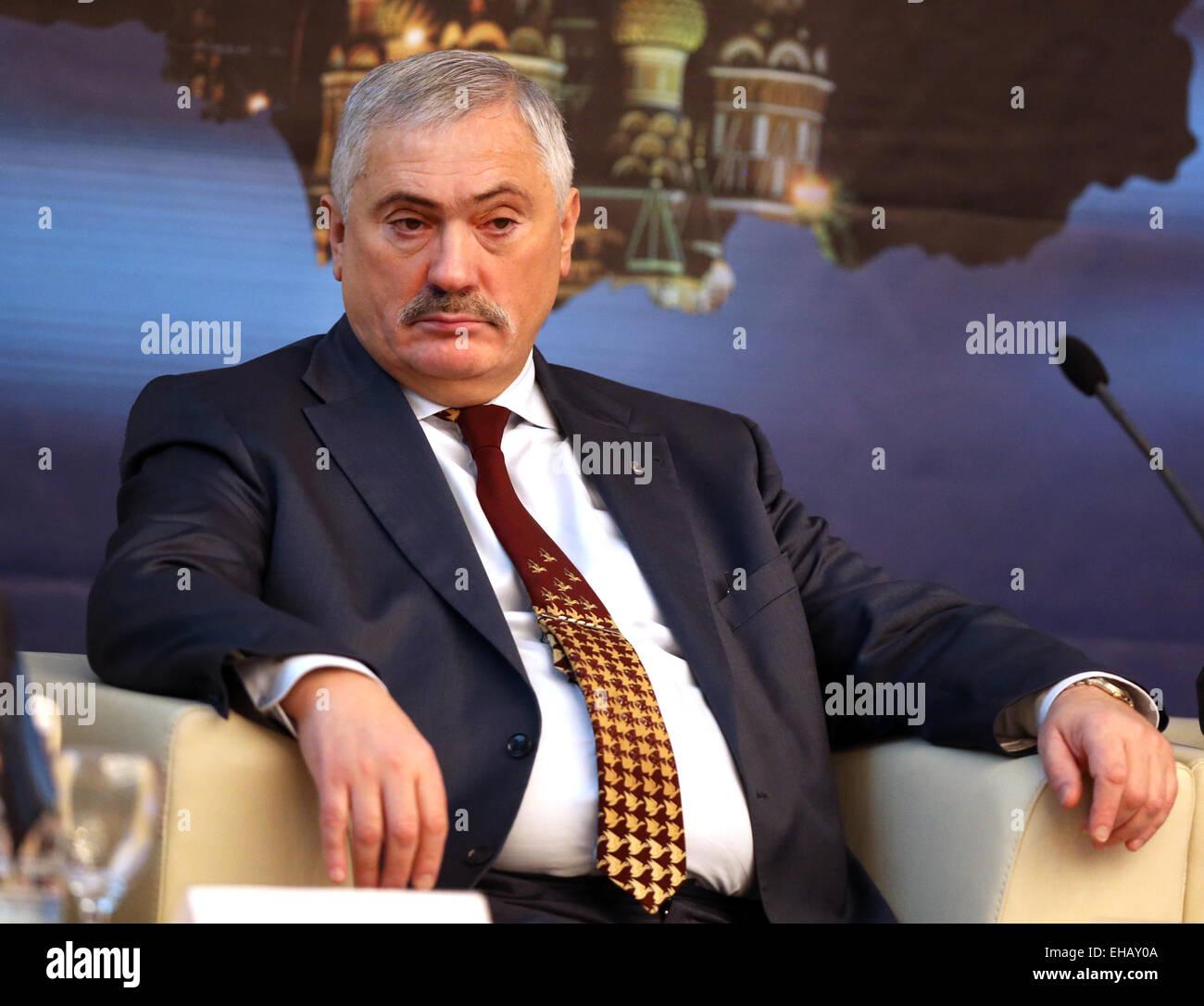 Moskau, Russland. 11. März 2015. Viktor Martynov, Rektor der Gubkin ...