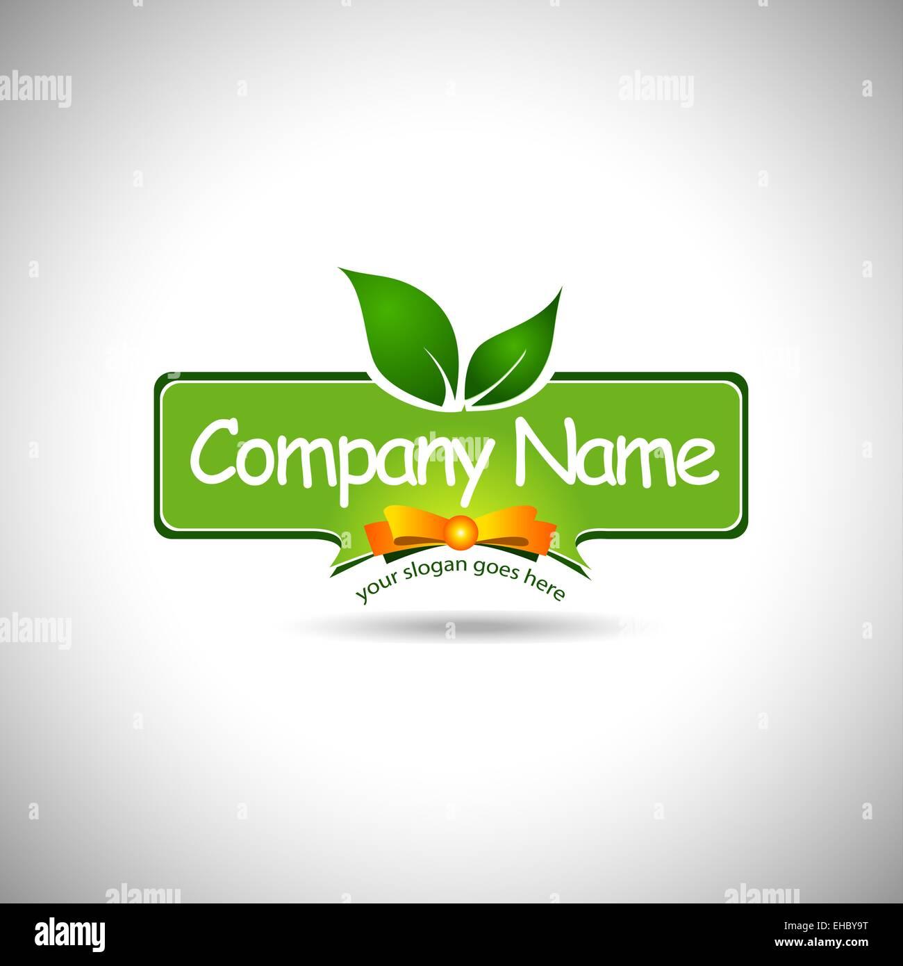Lebensmittel-Label-Logo-Design. Kreative Küche-Firma-Logo-Design mit ...