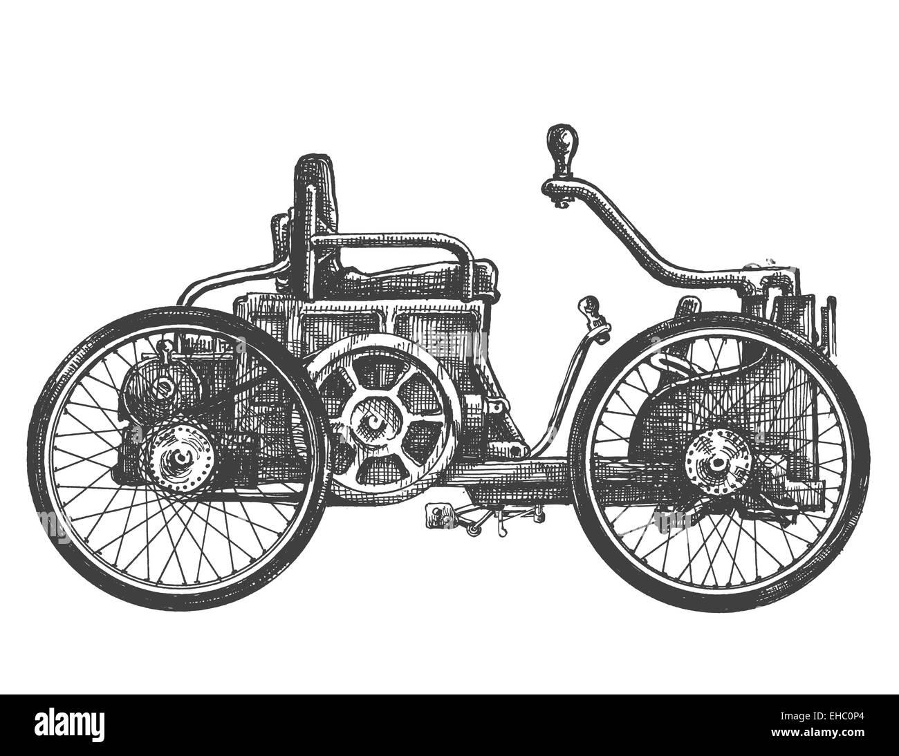 Oldtimer-Vektor-Logo-Design-Vorlage. Transport oder Fahrzeug-Symbol ...