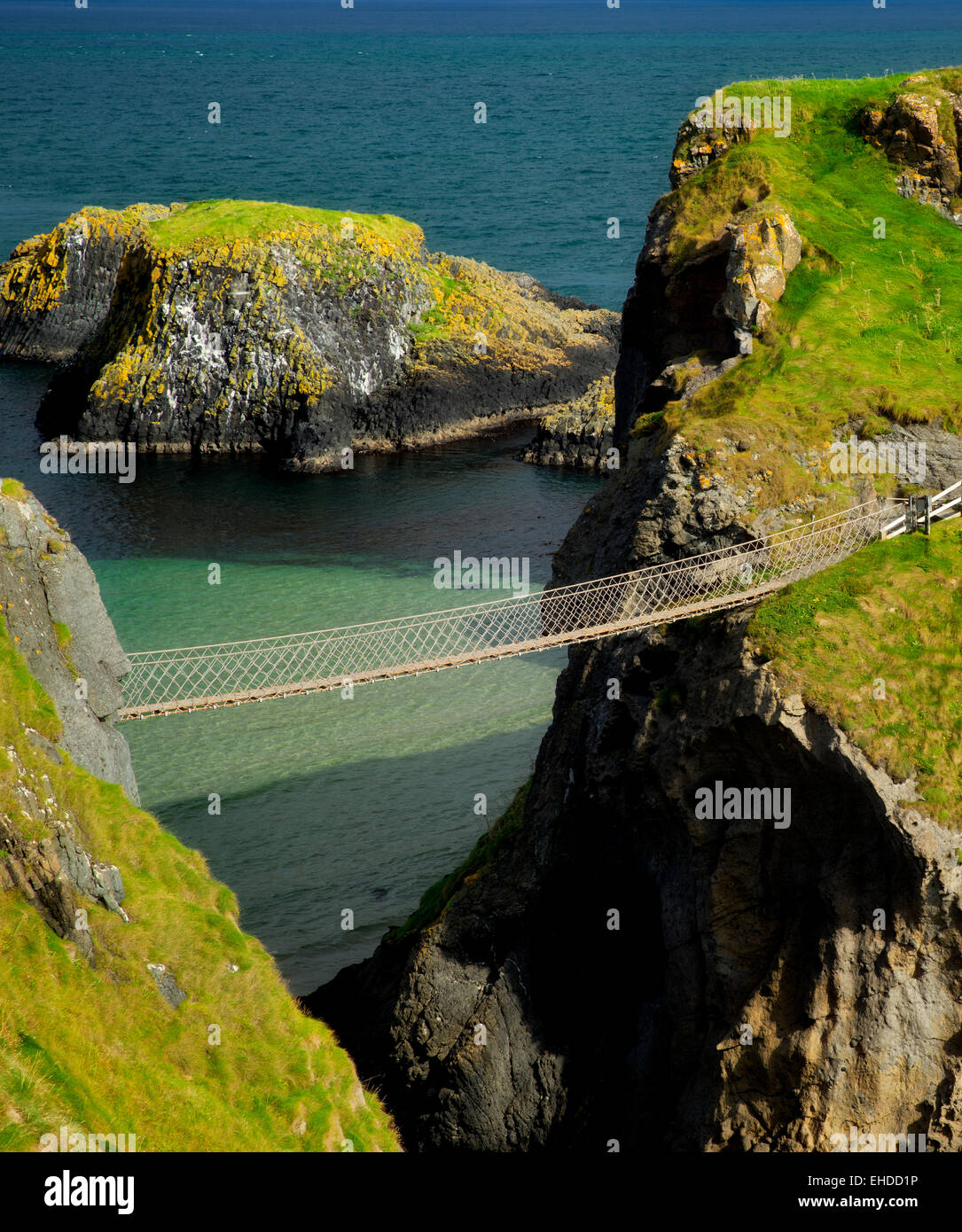Carrick-a-Rede Rope Bridge. Nordirland Stockbild