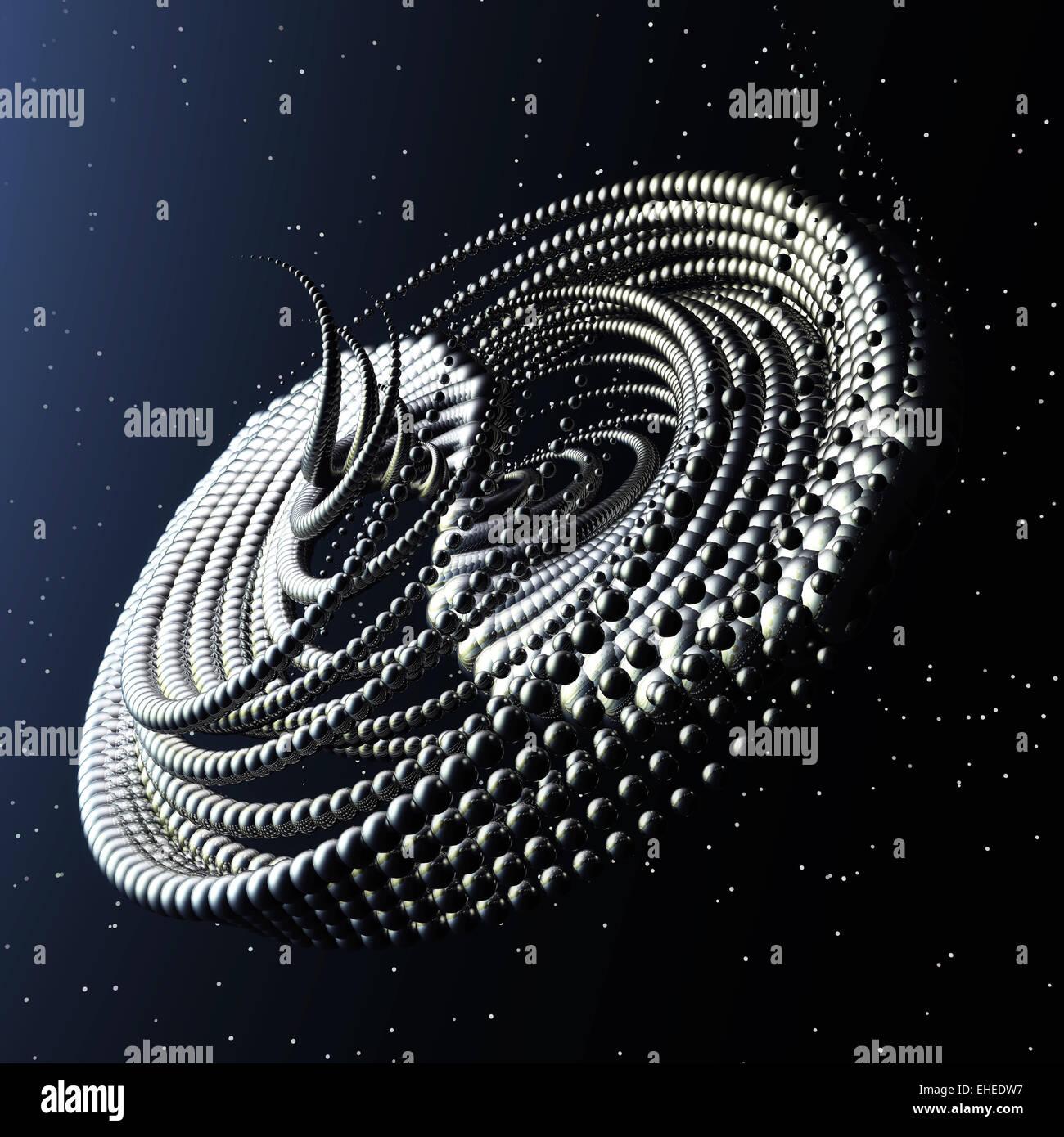 Dreidimensionale Fraktale Struktur Stockbild