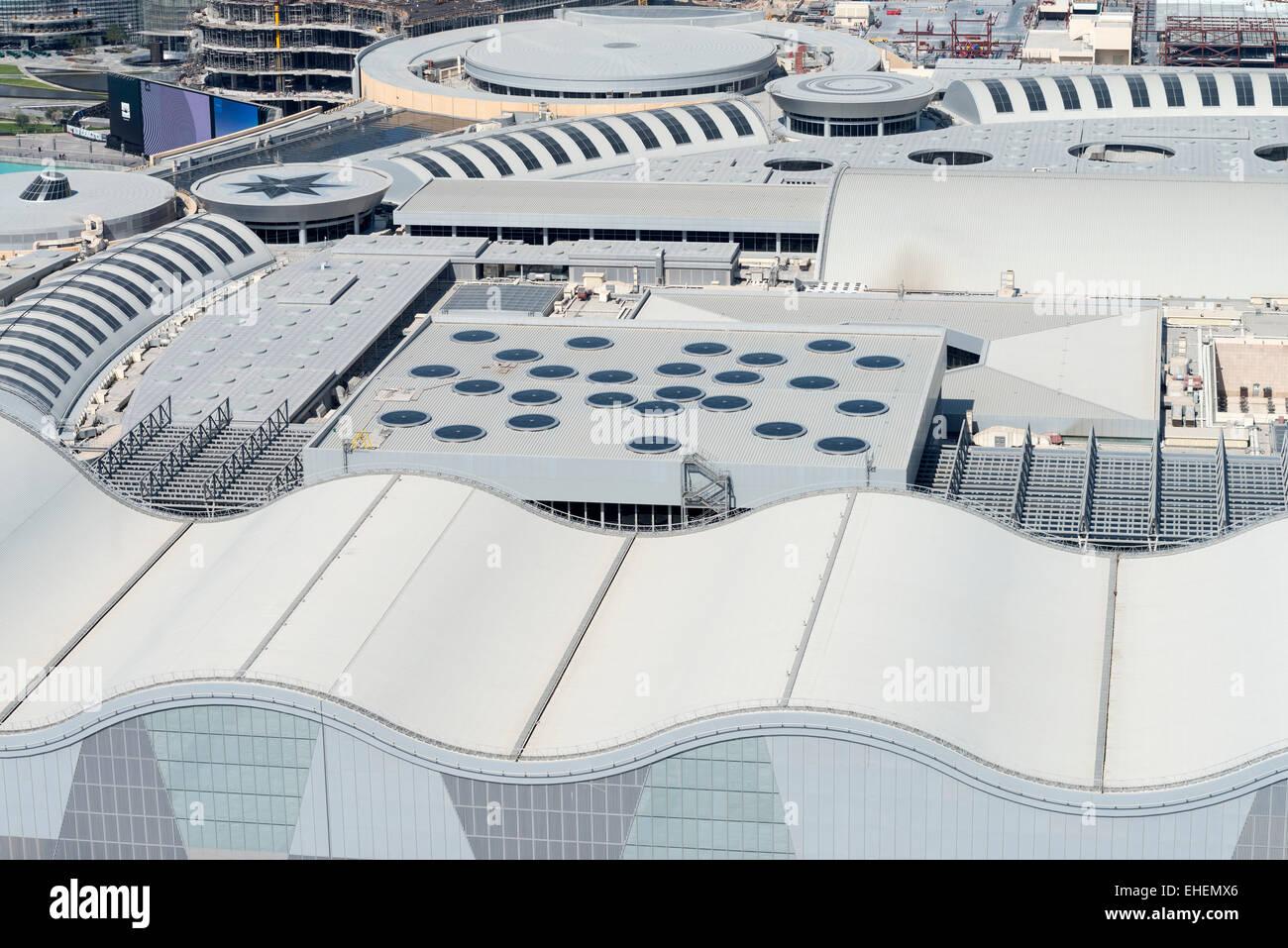 Ansicht des Daches der Dubai Mall in Dubai Vereinigte Arabische Emirate Stockbild