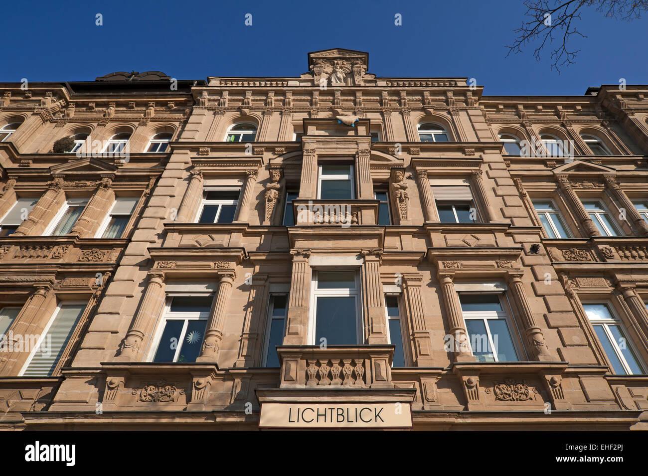 Herrenhaus aus dem 19. Jahrhundert, Fürther Straße, Nürnberg, Mittelfranken, Bayern, Deutschland Stockbild