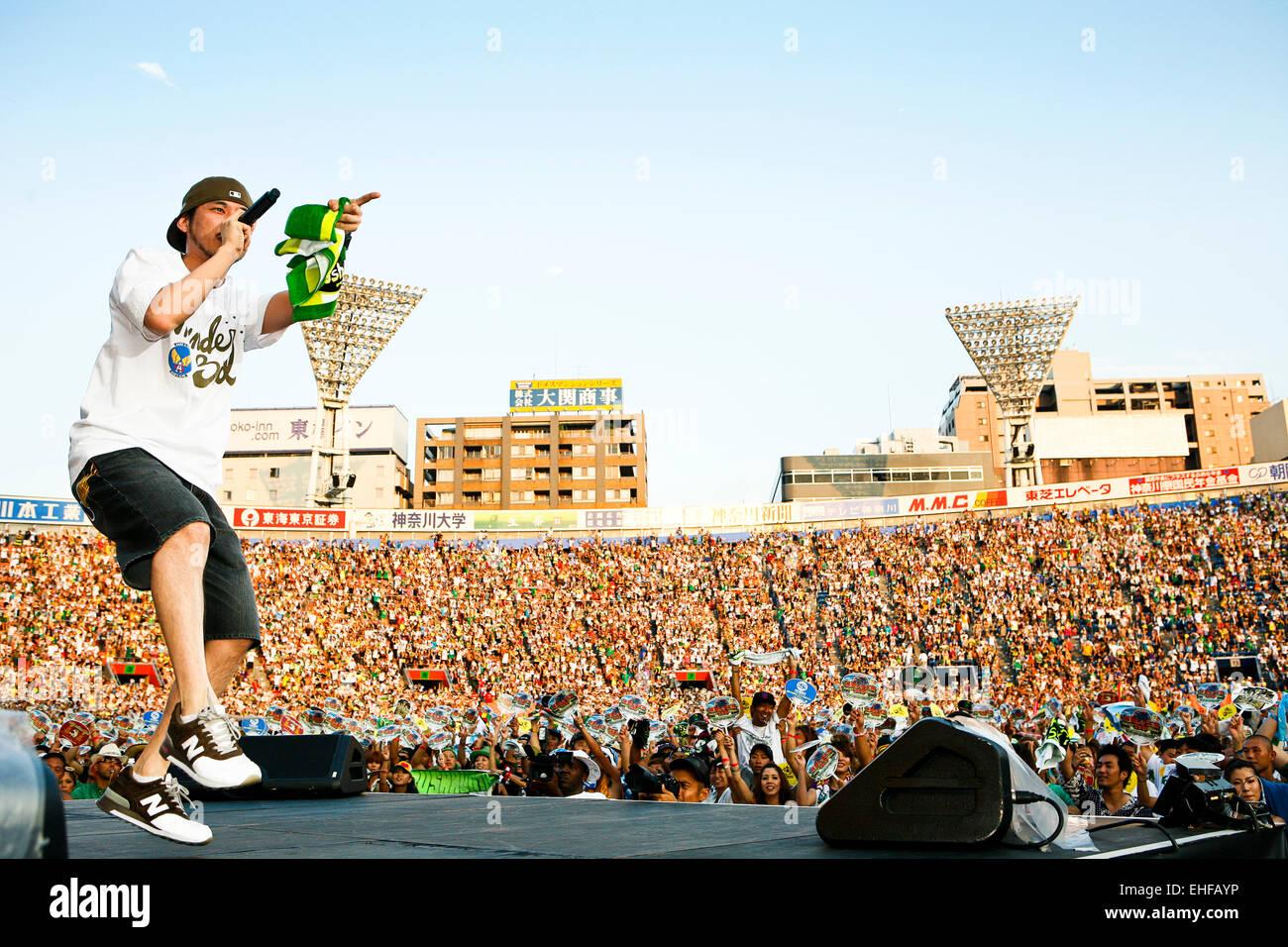 Ryo die Skywalker Leben auf mächtigen Krone Stadion Veranstaltung in Yokohama Japan August 2008. Stockbild