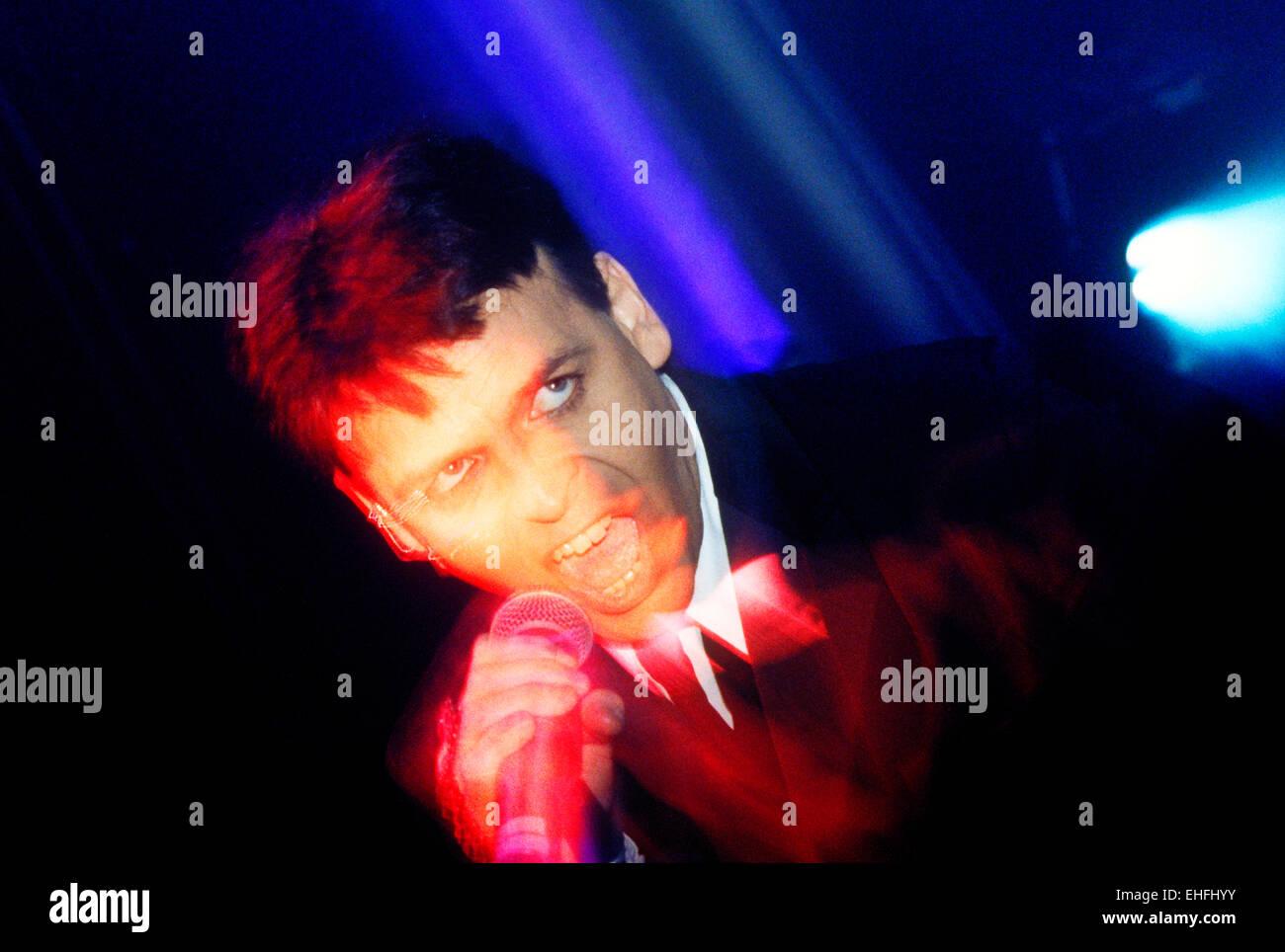 Gary Numan live. Stockbild