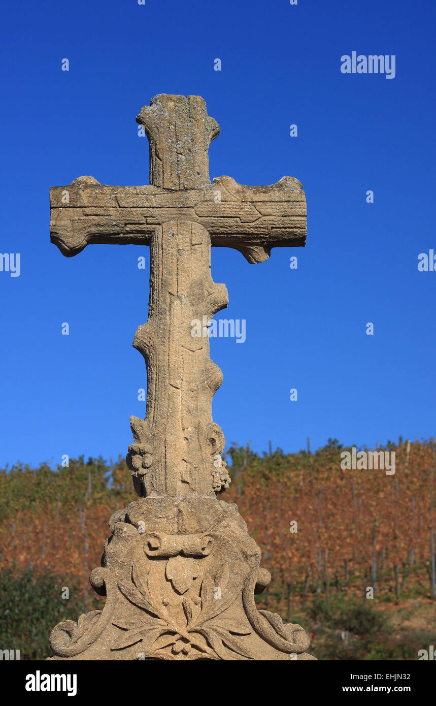 Christlichen Bildstock Stein Stockbild