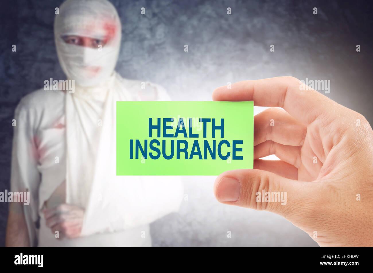 Arzt Eine Visitenkarte Mit Krankenversicherung Titel