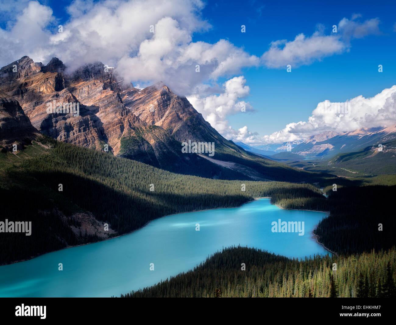 Peyto Lake. Banff Nationalpark. Alberta. Kanada. Stockbild