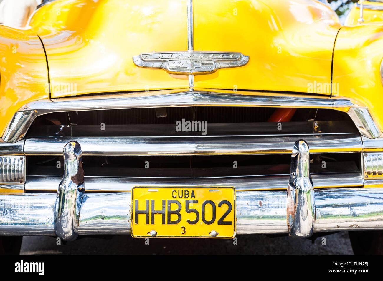 50er Jahre amerikanisches Auto, Kuba. Stockbild