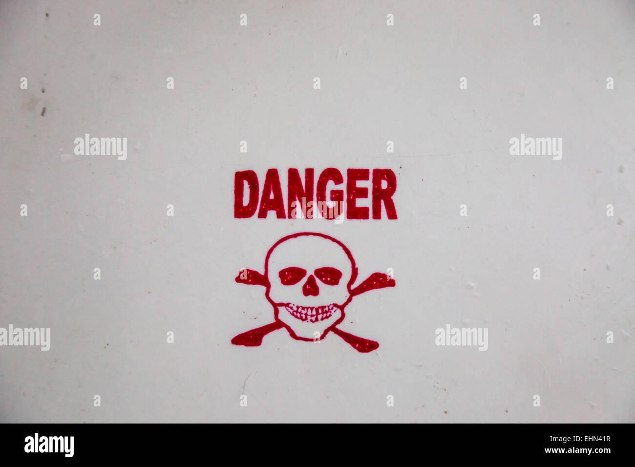 Panel-Gefahr. Stockbild