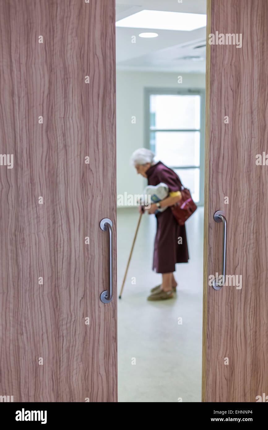 Heim für ältere Person der Alzheimer-Krankheit. Stockbild