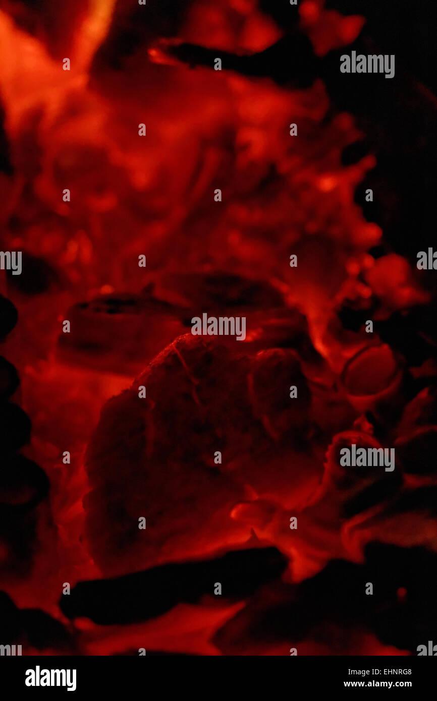 Glut in heiße rote Farbe Stockfoto, Bild: 79770104 - Alamy