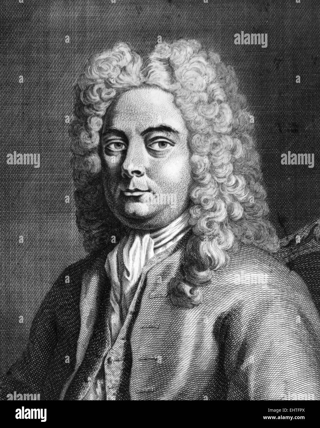 GEORGE FREDERIC HANDEL (1685-1759) deutsch-britischen Komponisten über 1725 Stockbild