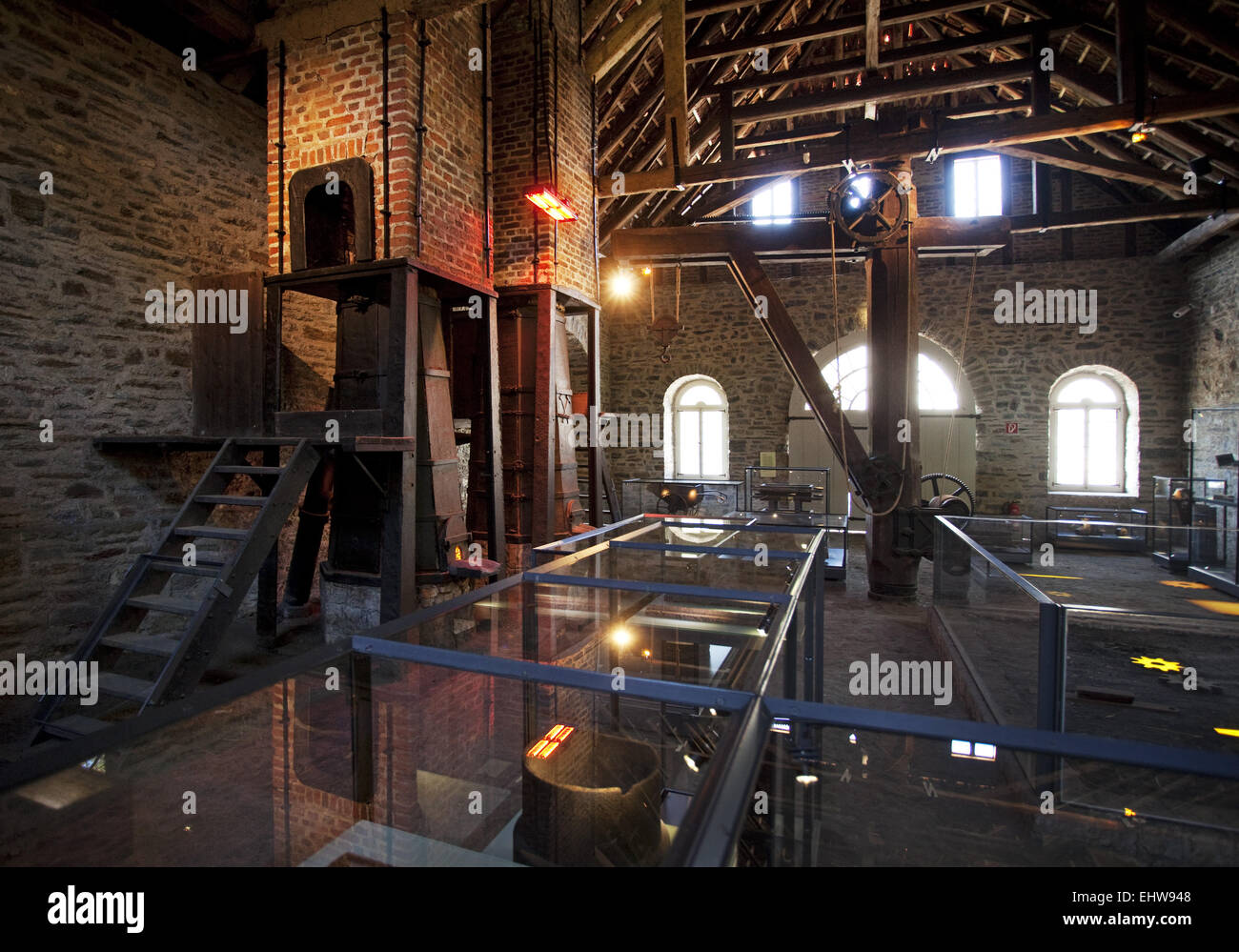 Das Museum Luisenhuette Wocklum in Balve Stockbild