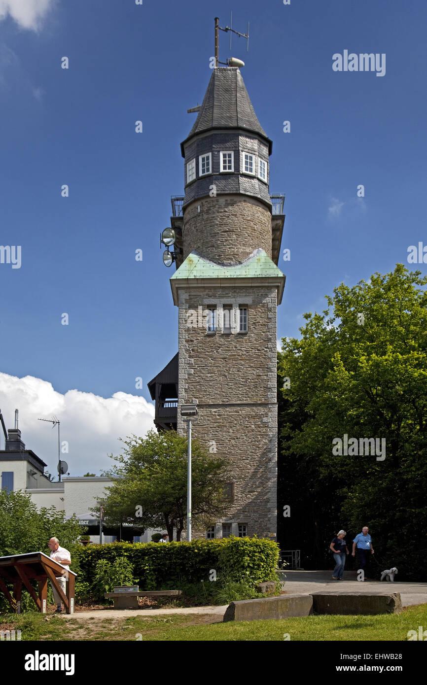 Der Danzturm in Iserlohn in Deutschland. Stockbild