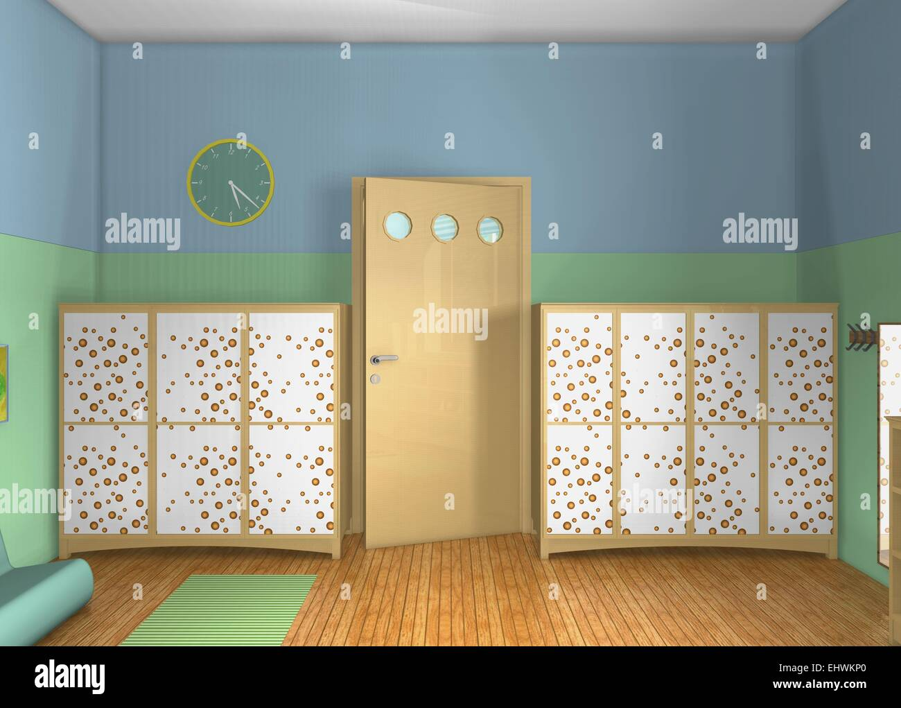 kinderzimmer von maria montessori inspiriert 3d ansicht von oben design kleinkinder zimmer. Black Bedroom Furniture Sets. Home Design Ideas