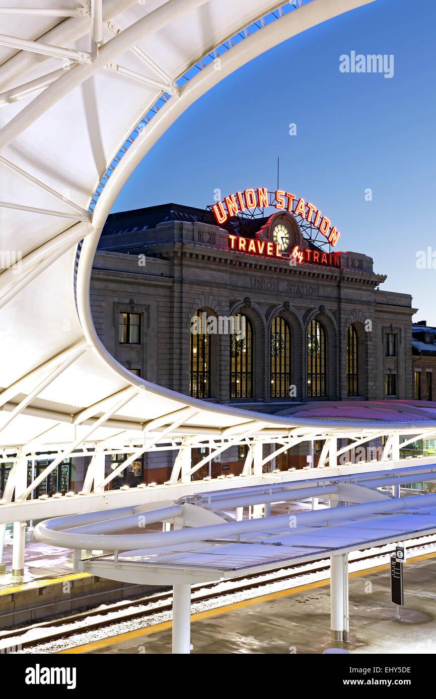 Union Station, Denver, Colorado USA Stockbild