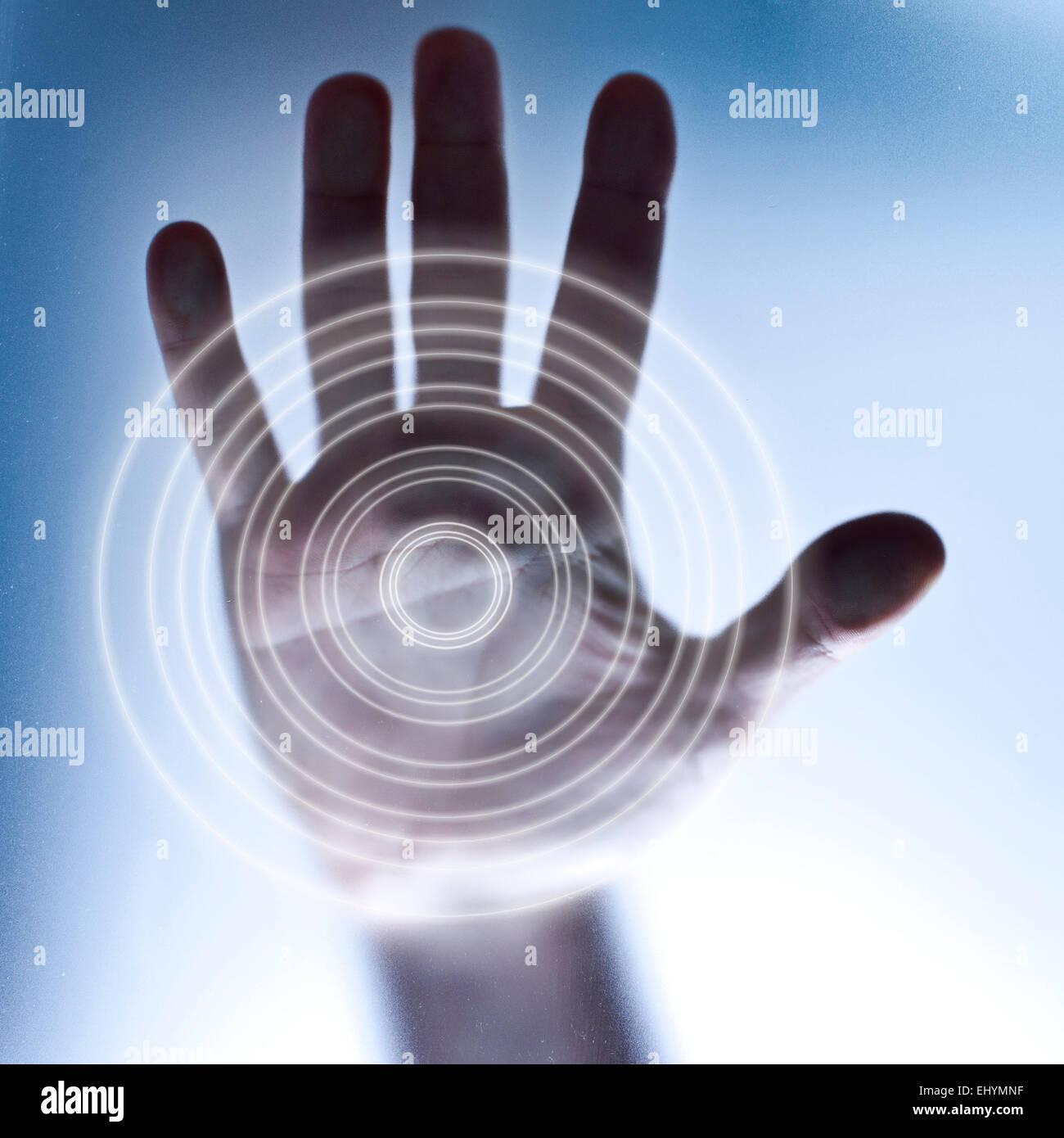 Konzept für Touch-Screen und Zukunftstechnologie Stockbild