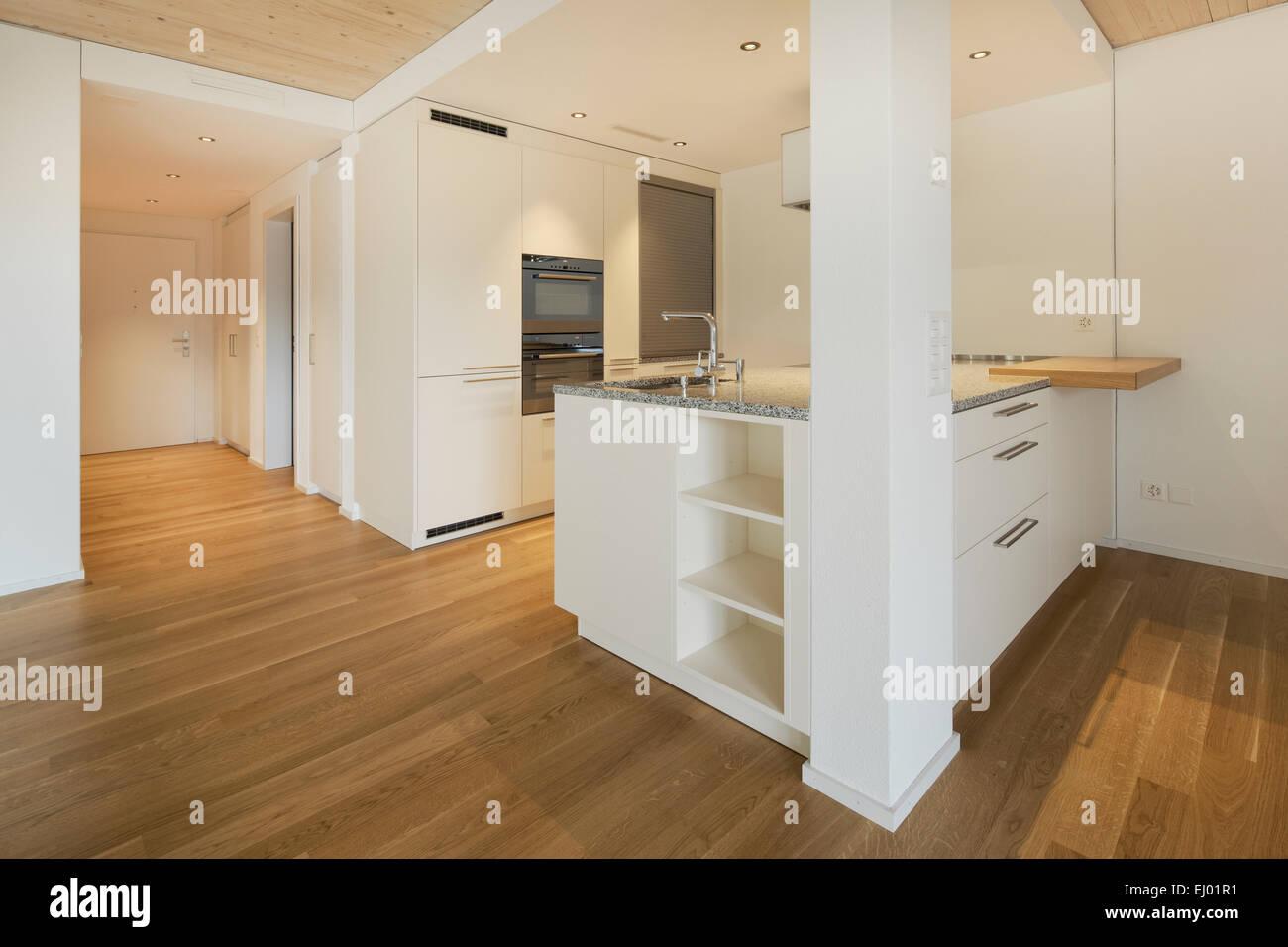 Architektur, Chromstahl, Haus, Haus, Holz, Inneneinrichtung ...