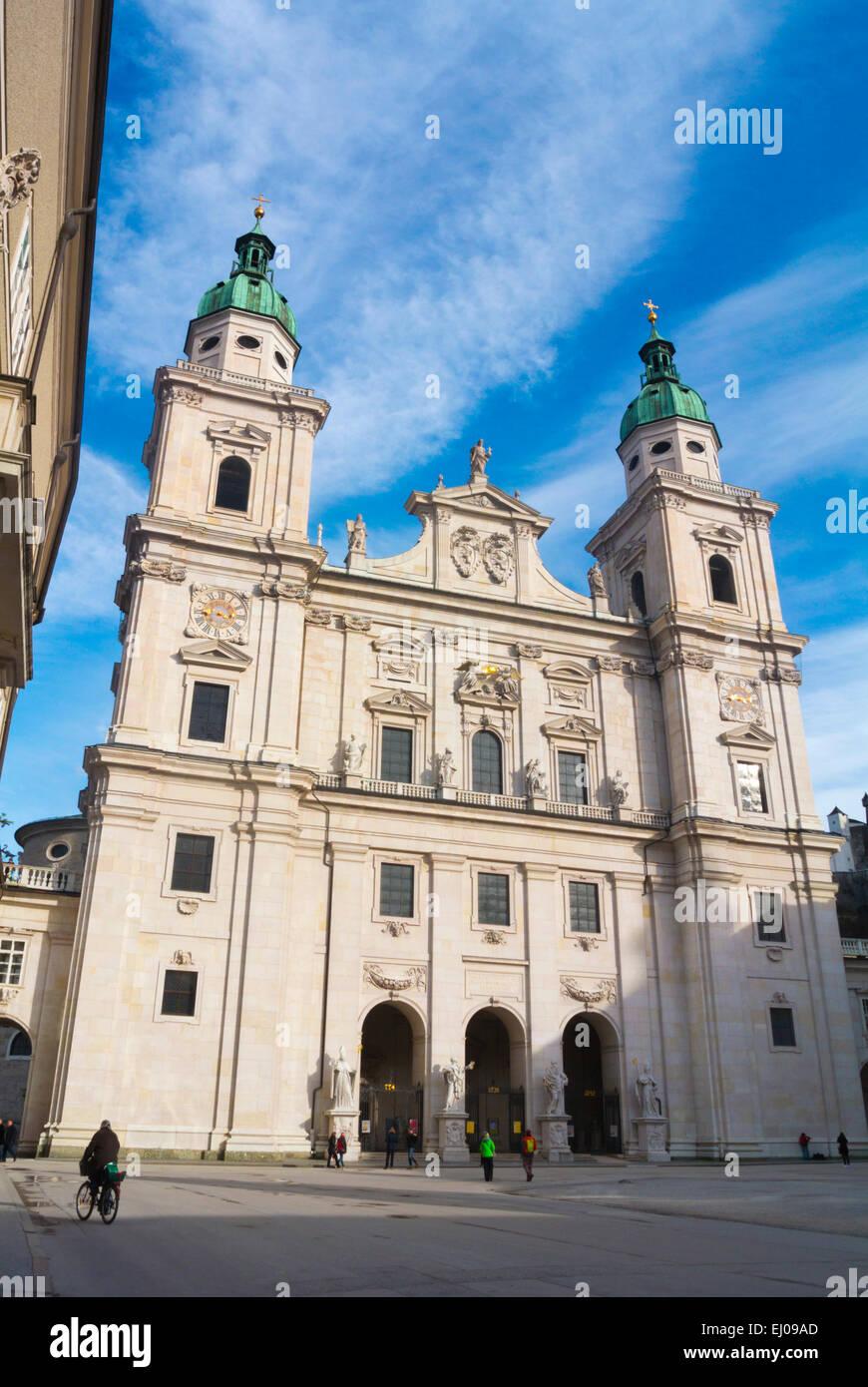 Dom Zu Salzburg, Dom, Domplatz, Altstadt, Altstadt, Salzburg, Österreich Stockbild