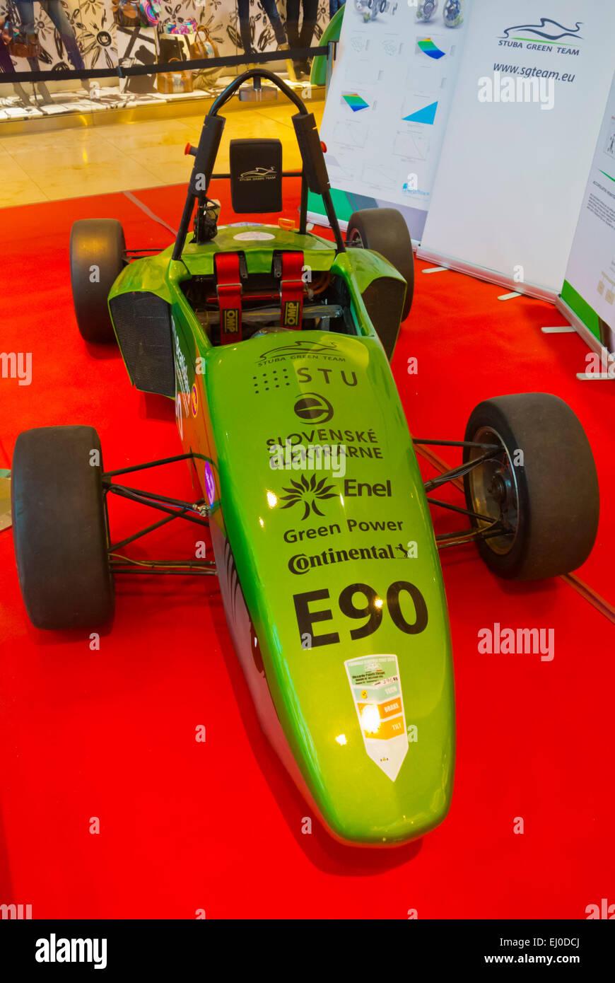 Slowakische Stuba Ökostrom Formel Elektro-Auto, das Rennen in die Formula Student Kompositionen, Bratislava, Stockbild
