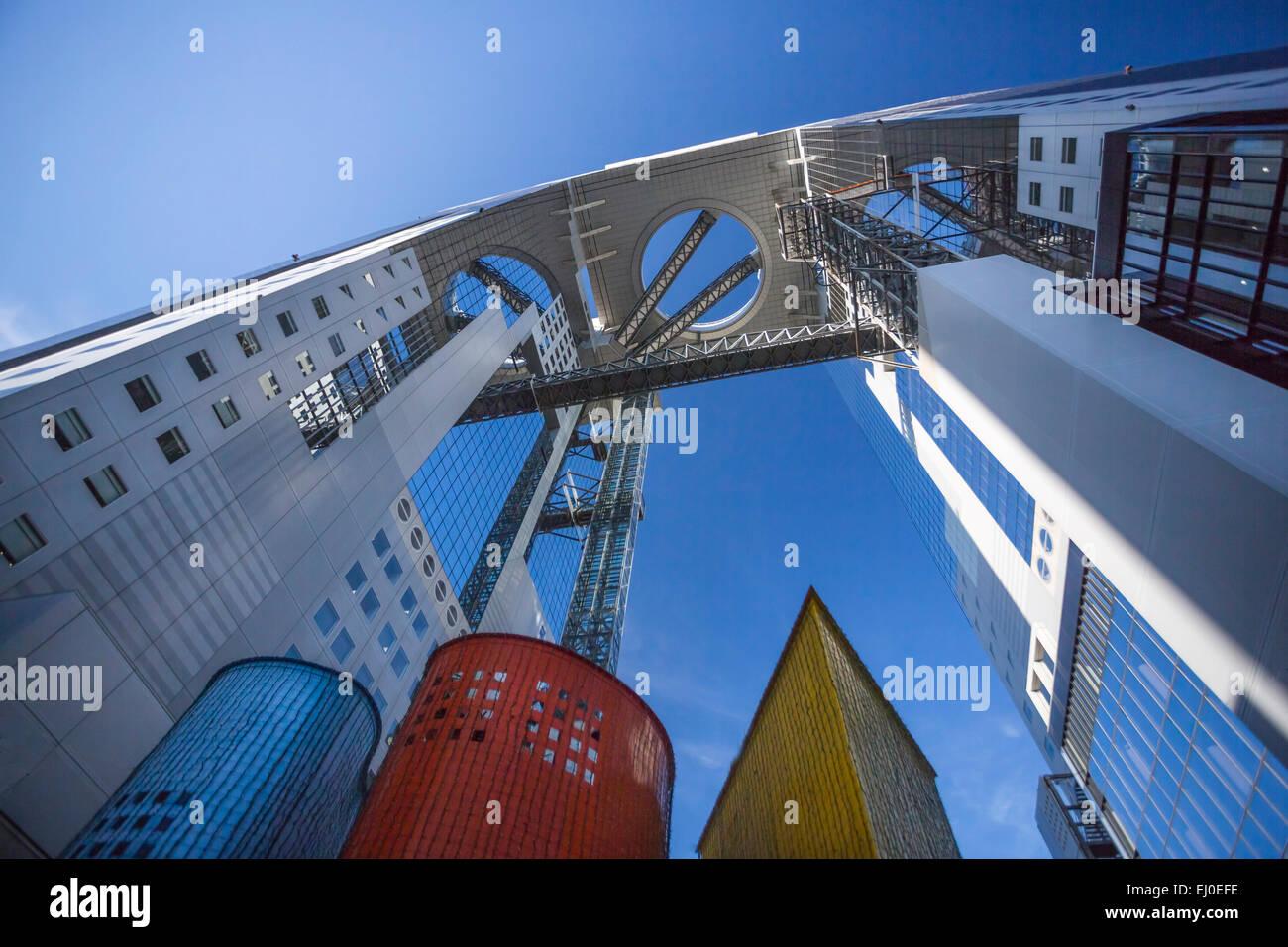 City, Japan, Asien, Kansai, Osaka, Stadt, Umeda Sky, Gebäude, Architektur, bunte, touristische, Reisen Stockbild