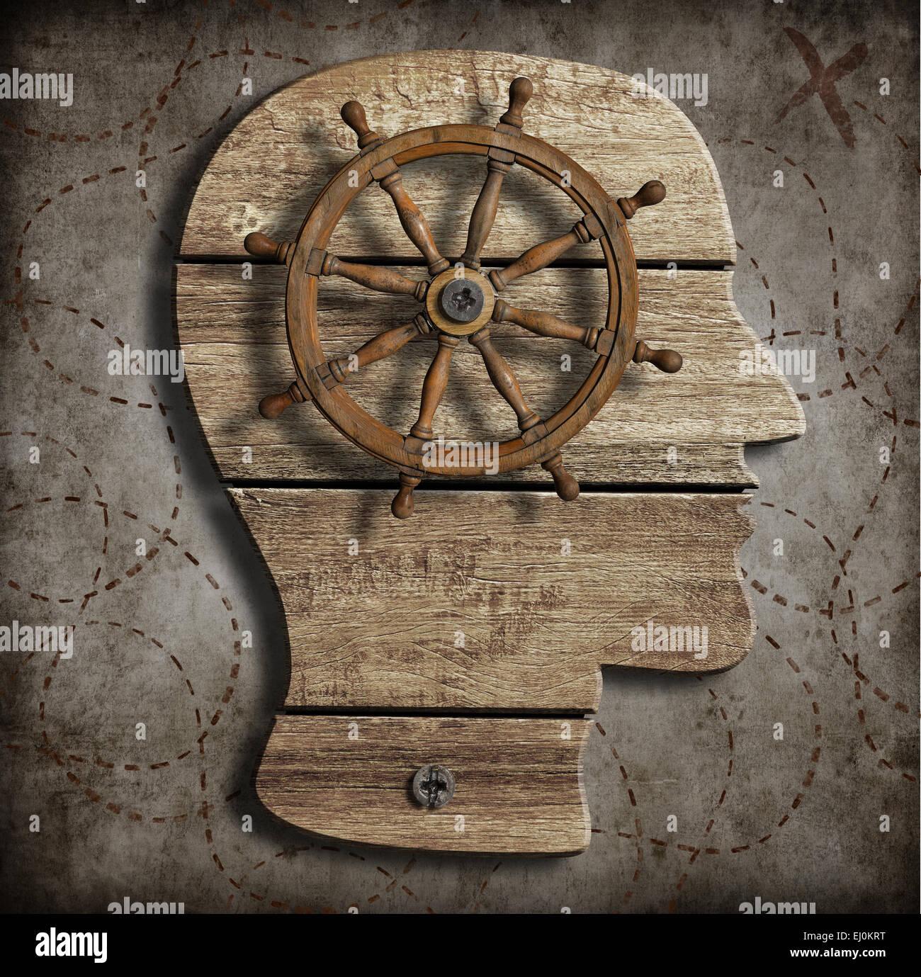 Verhalten und Geist Steuerungskonzept Stockbild