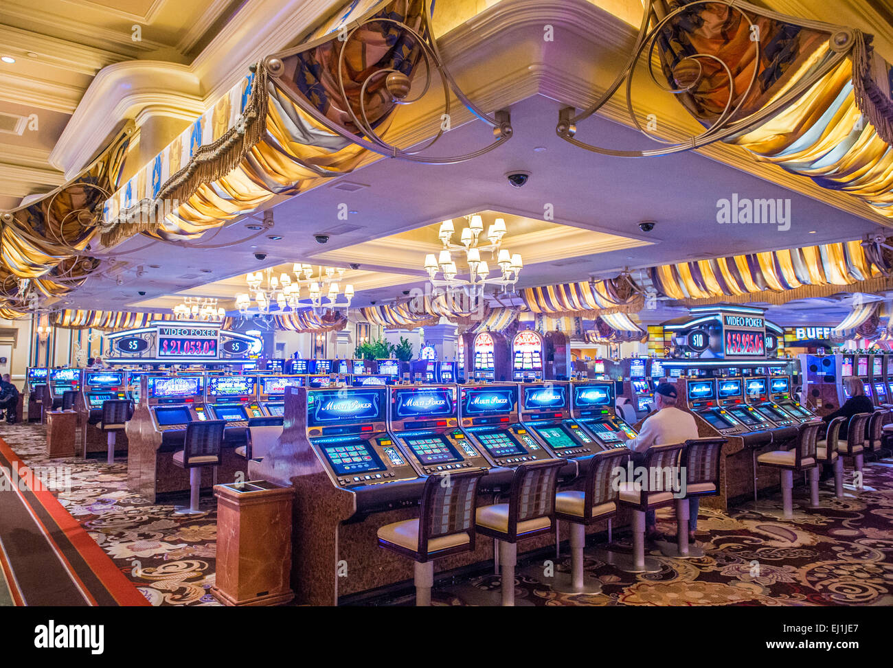 Das Innere Des Bellagio Hotel Und Casino In Las Vegas Stockfoto