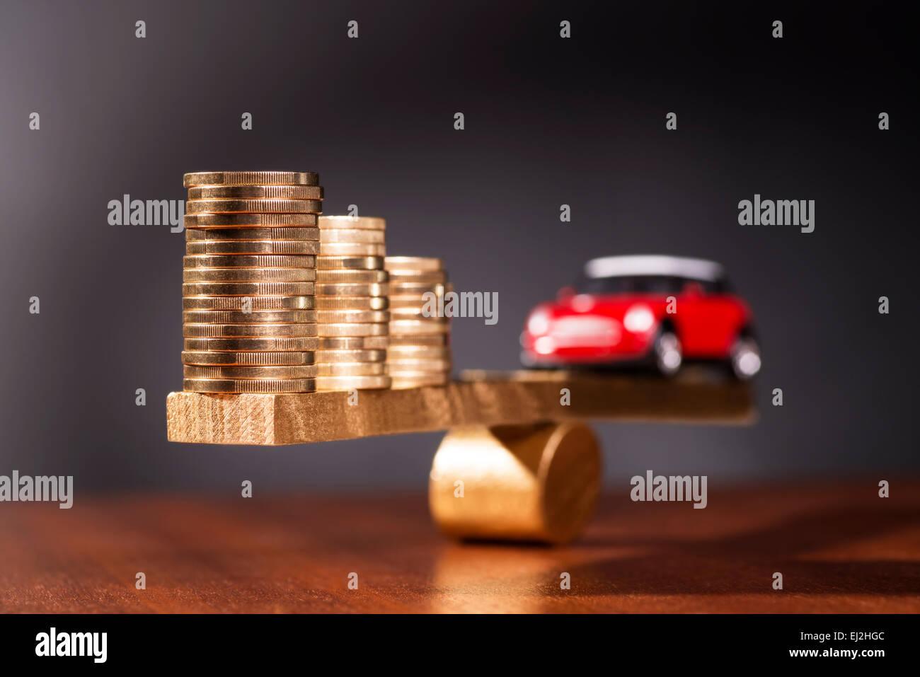 Solide Finanzierung eines Autos Stockbild
