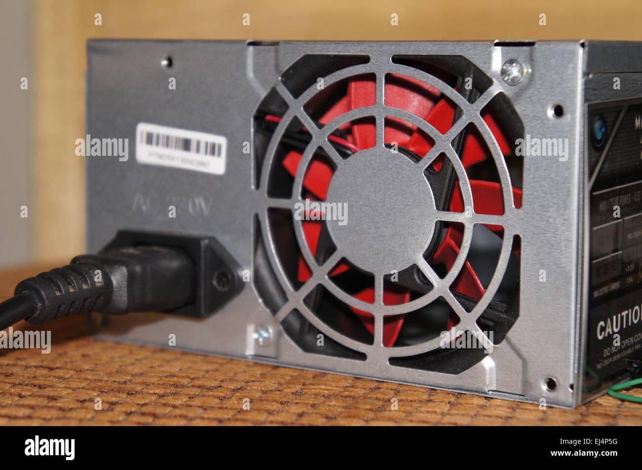 PC ATX Netzteillüfter Stockbild