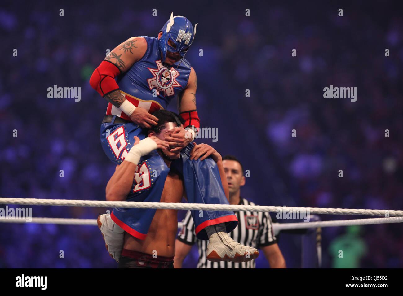 20. März 2015 - Datei - Tragödie schlug die AAA wrestling Promotion Freitagabend in Tijuana, Mexiko, als Stockbild