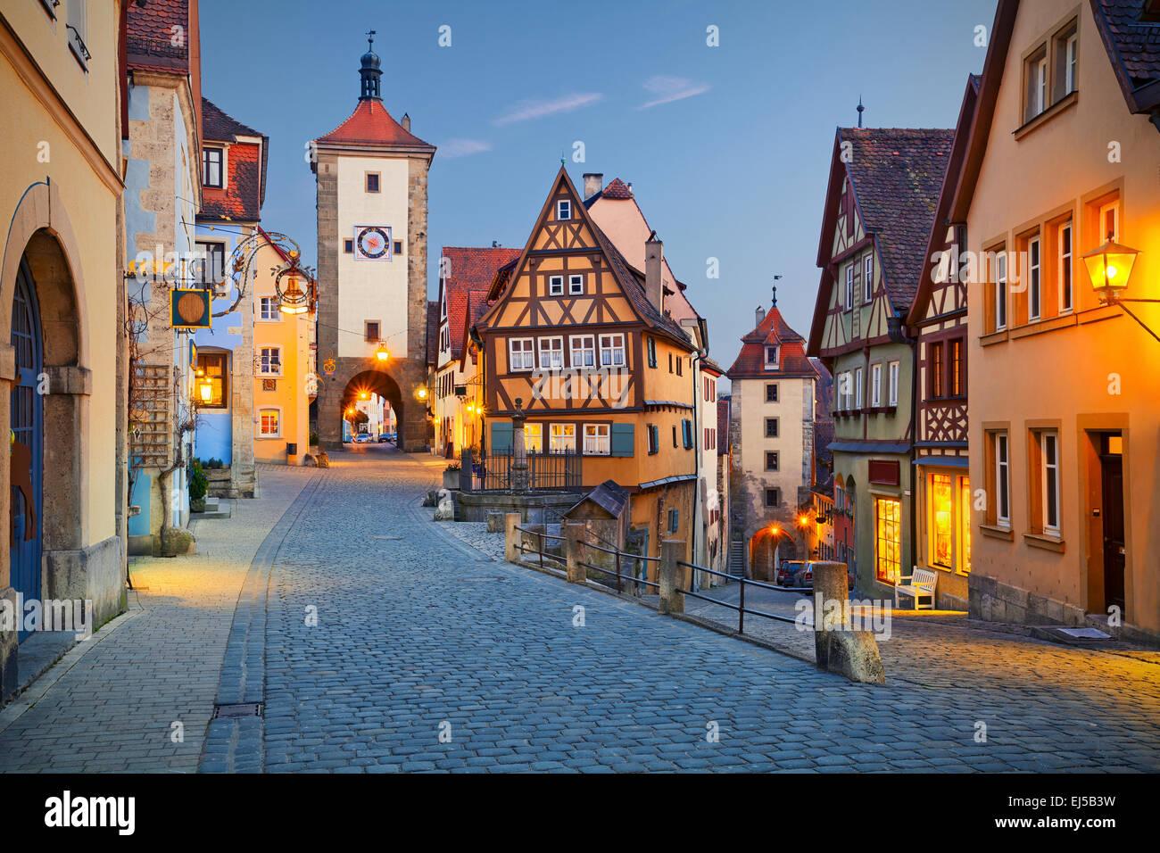 Rothenburg Ob der Tauber. Bild von Rothenburg Ob der Tauber eine Stadt in Bayern, Deutschland. Stockbild