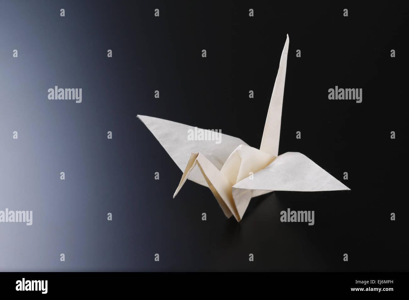 Japanische Büttenpapier Kran Stockbild