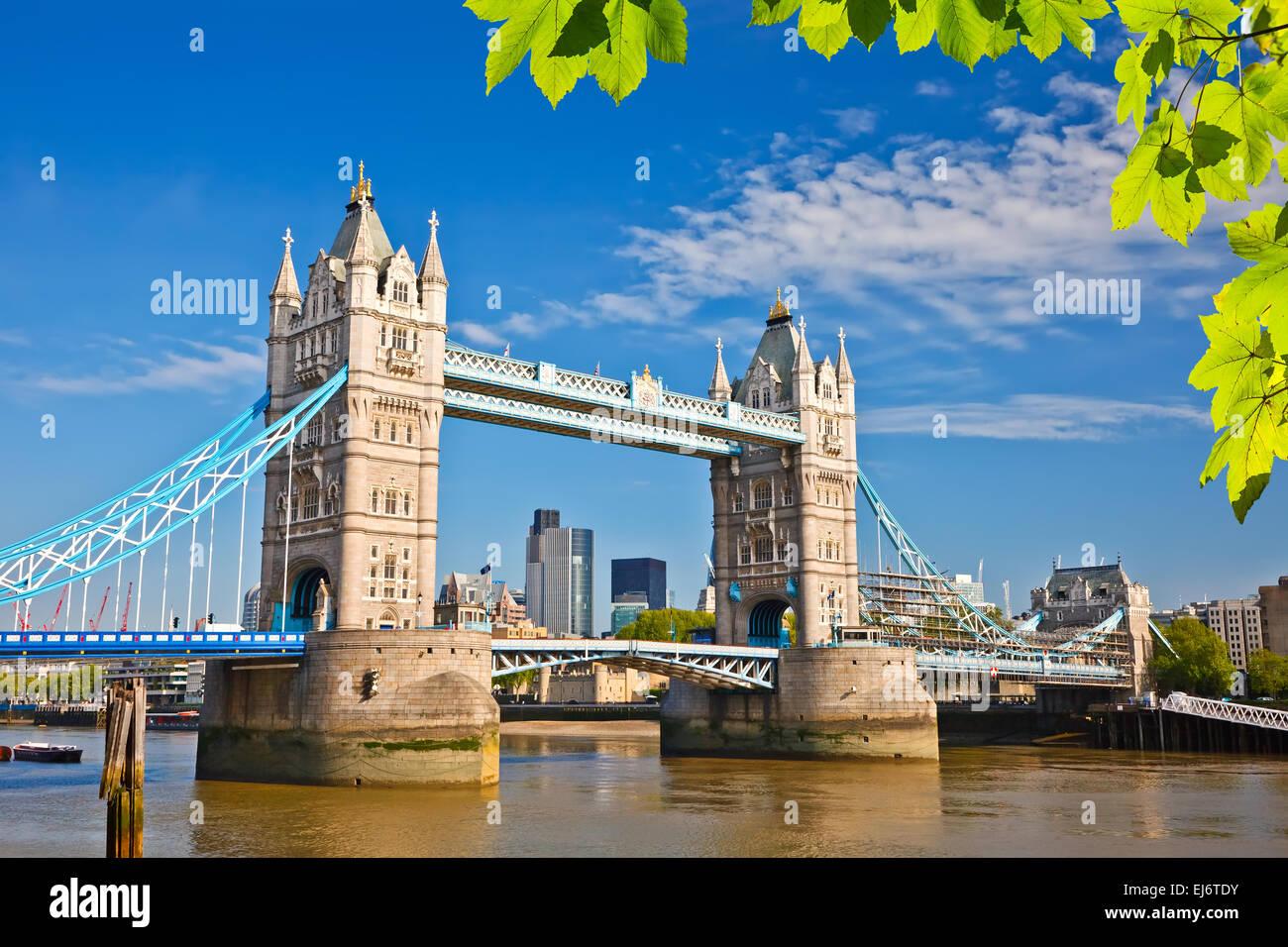 Tower Bridge in London Stockbild