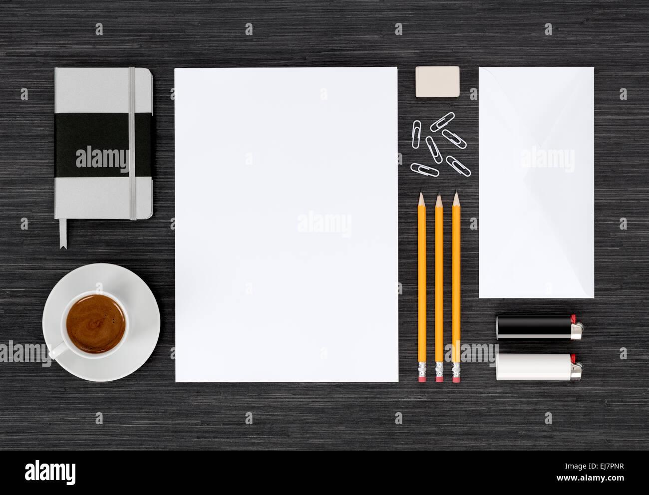 Branding Identität mock-up mit Vorlagen für Design-Präsentation oder ...