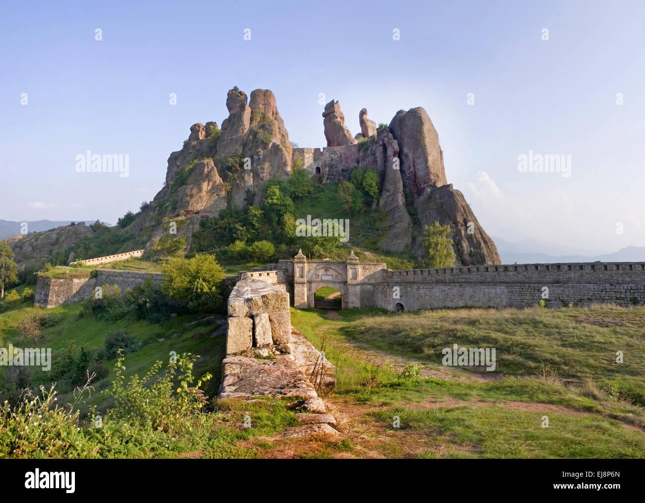 Felsphänomen in Belogradchik, Bulgarien Stockbild